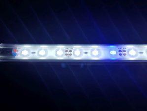 Akvarie led lys blå/hvid 60 cm